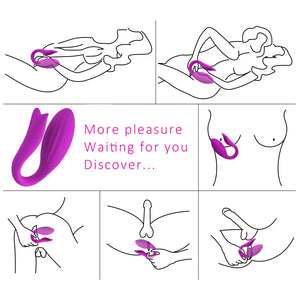 Mermaid Wireless Remote Control Couple Vibrator