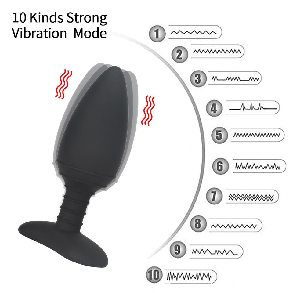 Wireless Remote Control Anal Plug Vibrator Lusty Age