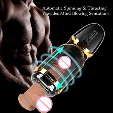 Automatic Piston Rotating Sucking Male Masturbator Cup