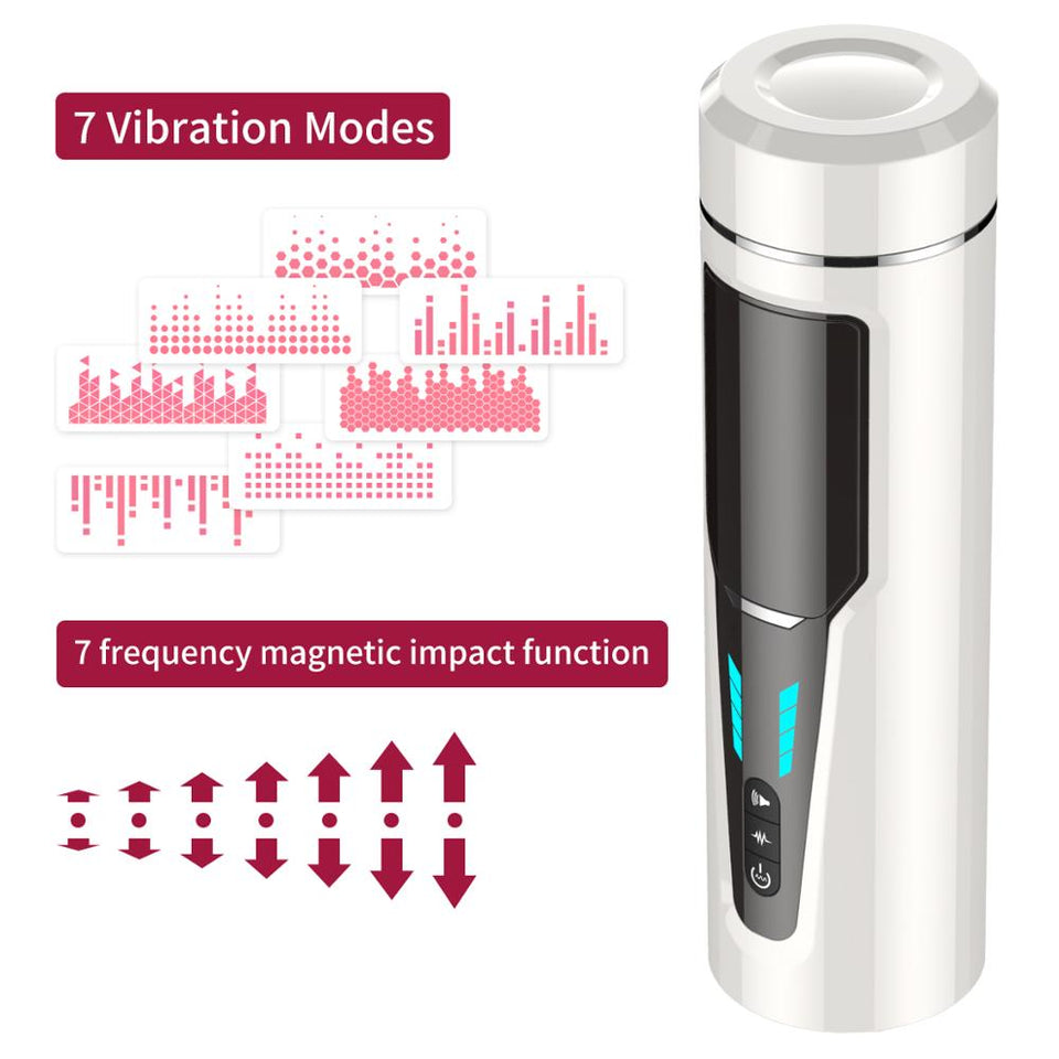 7 frequencies Automatic Piston Telescopic Rotation Male Masturbator