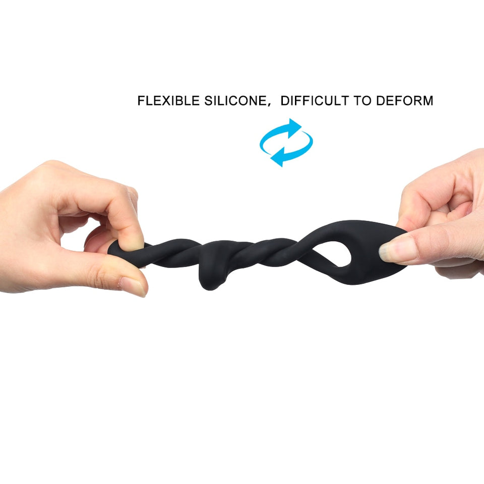 Ejaculation Lock Silicone Penis Ring