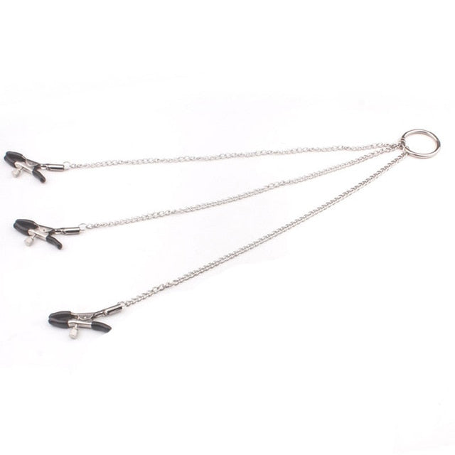Nipple Clamps Vagina Clitoris Stimulator Chain