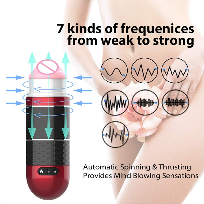 Automatic Heating Pocket Vagina Electric Smart Pulse Male Masturbator