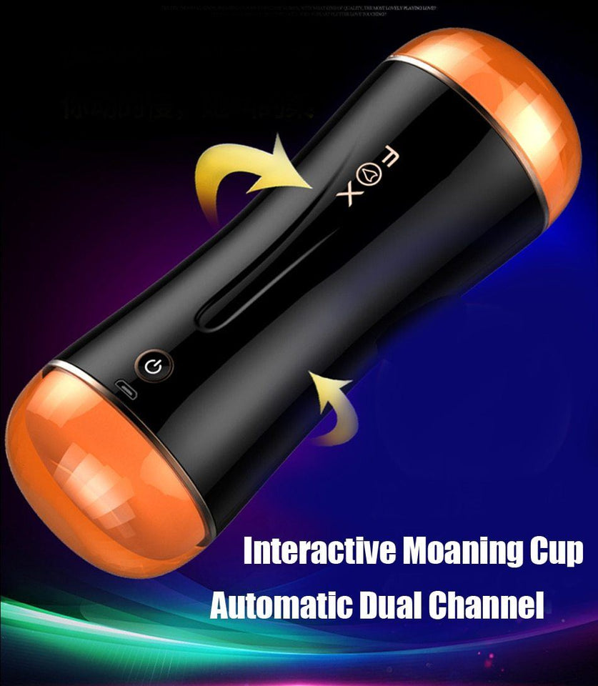 Automatic Dual Channel 10mode vibrator male masturbation Cup Lusty Age