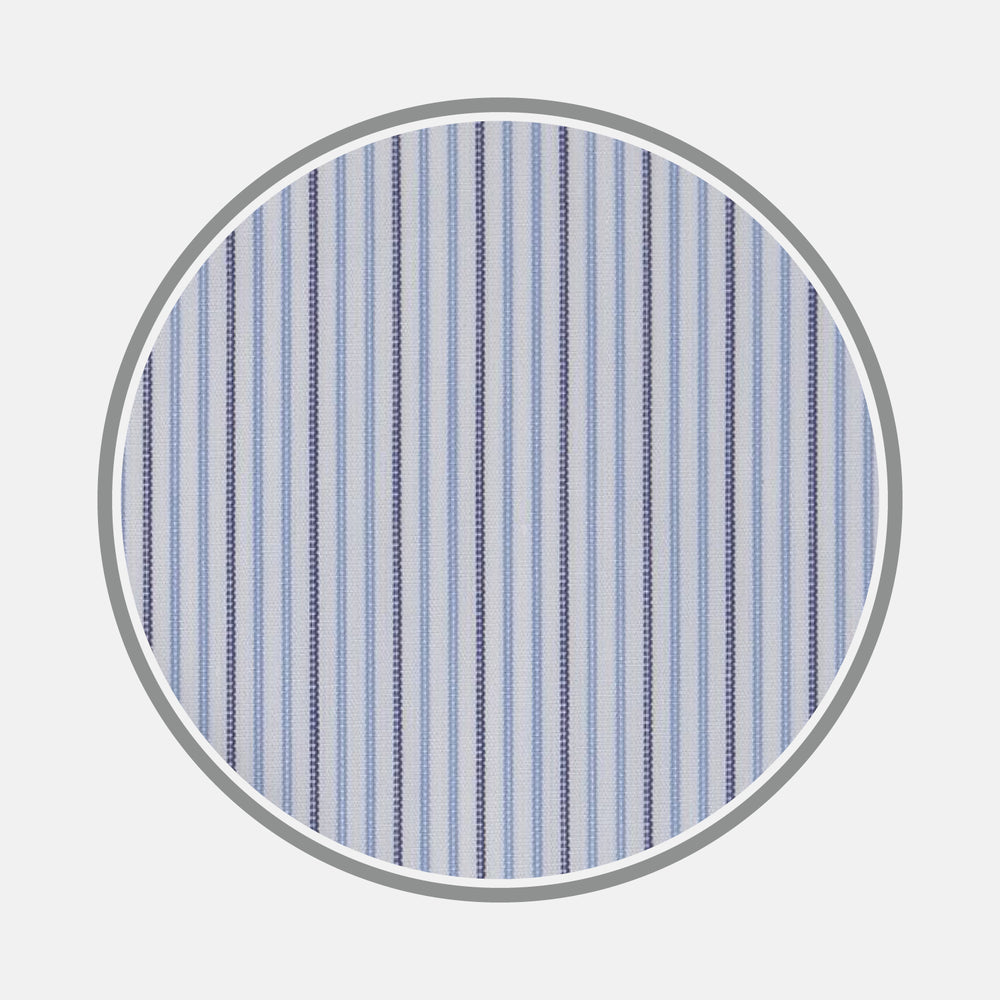 Navy and Light Blue Supraluxe Stripe Fabric