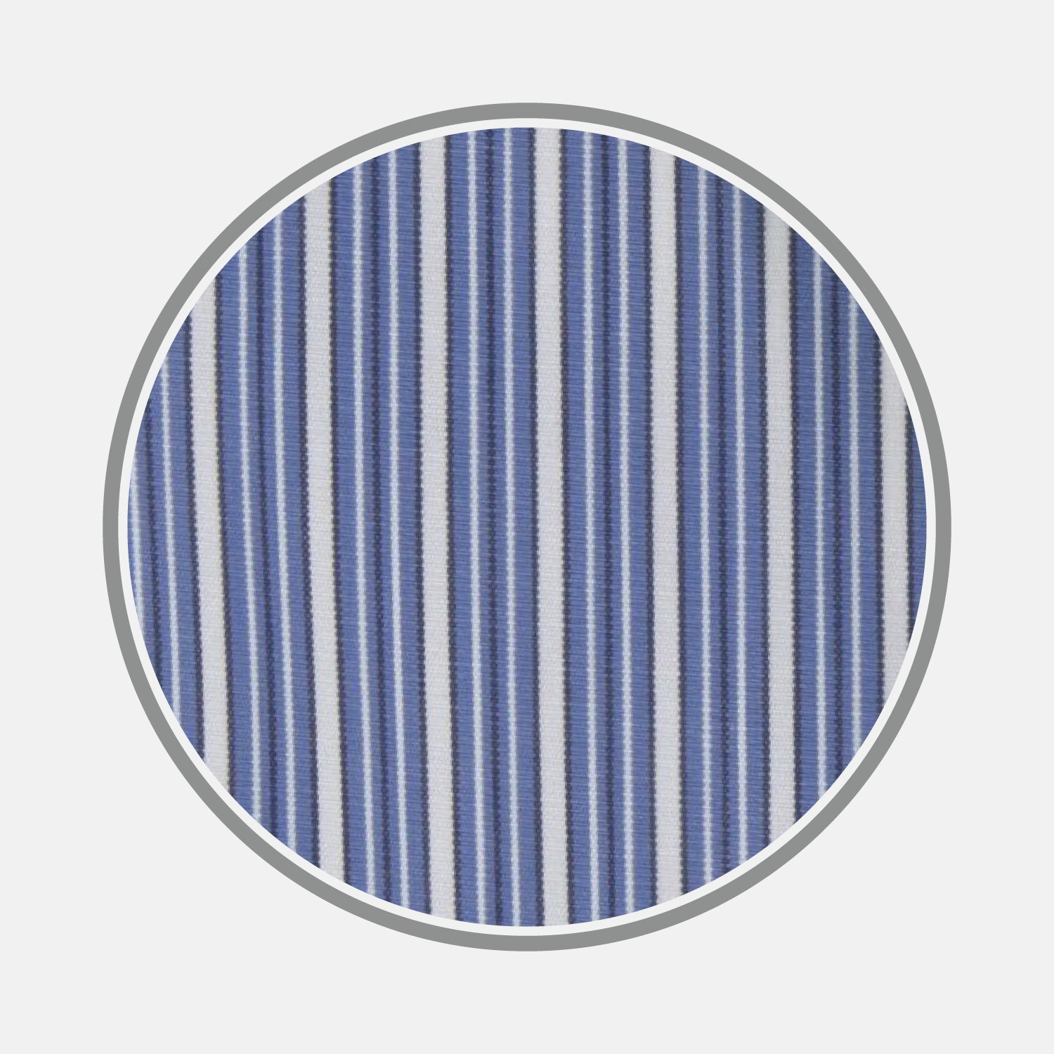 Navy Rich Stripe Cotton Fabric