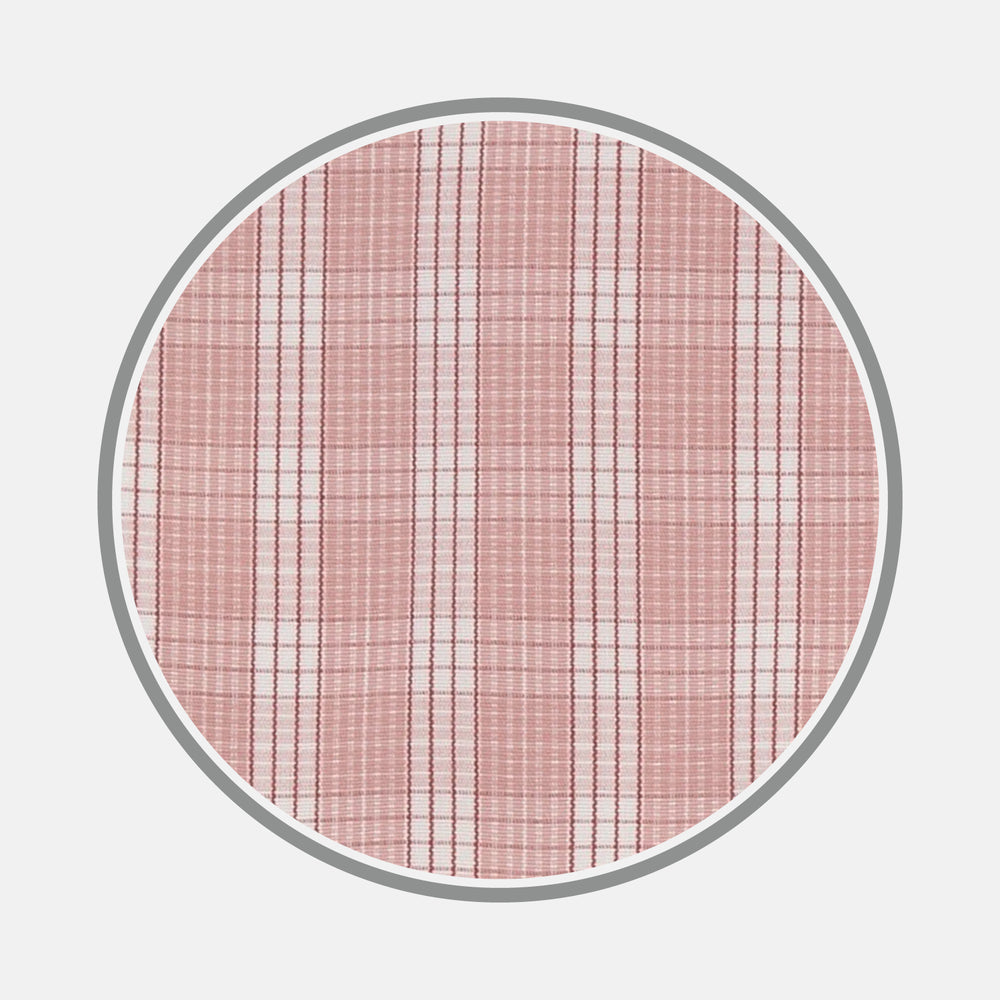 Pink and White Bold Check Cotton Fabric