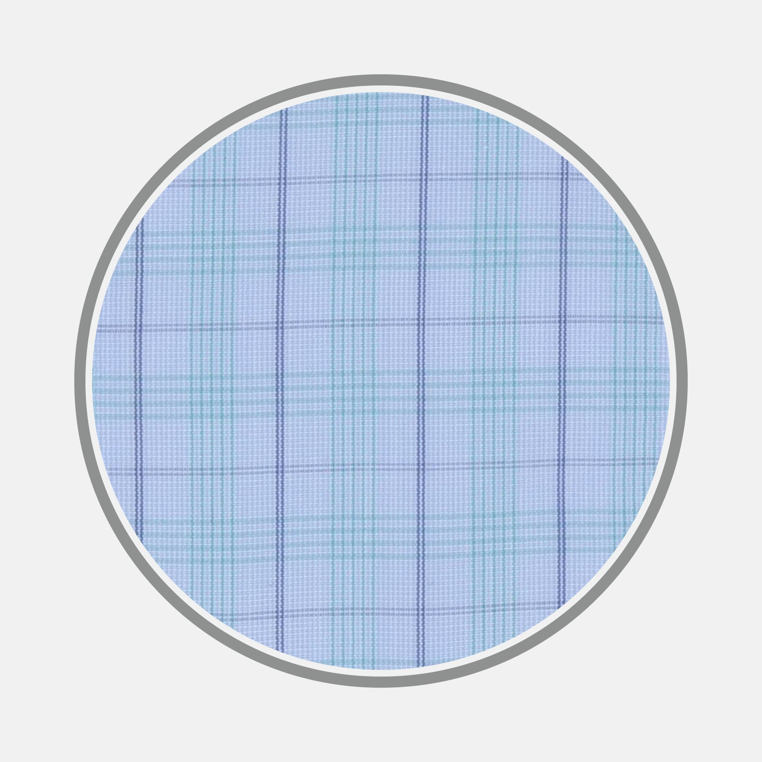 Green and Blue Windowpane Check Cotton Fabric