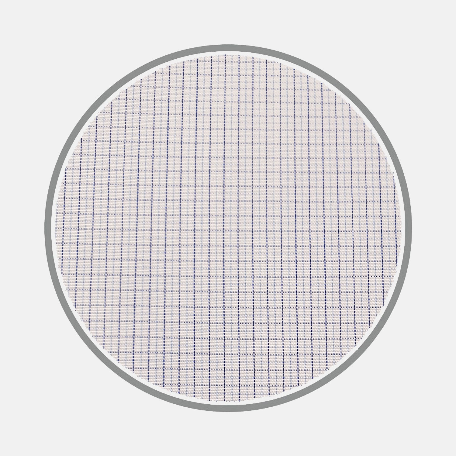 Navy and Blue Fine Check Silverline Cotton Fabric