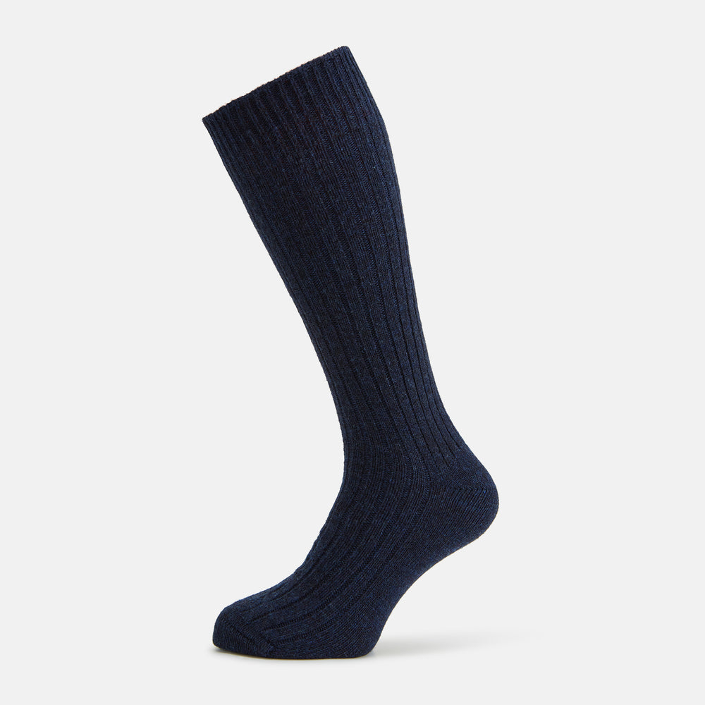 Navy Short Cashmere Socks