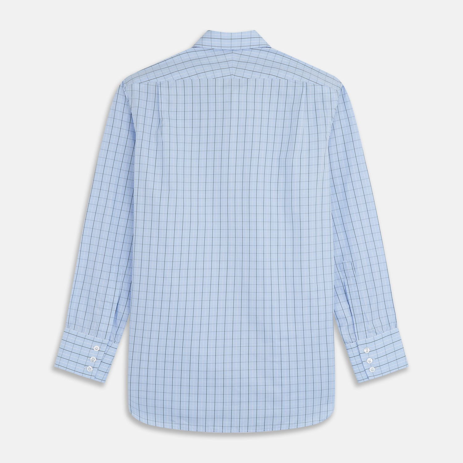 Green Graph Check Regular Fit Shirt with T&A Collar and 3-Button Cuffs