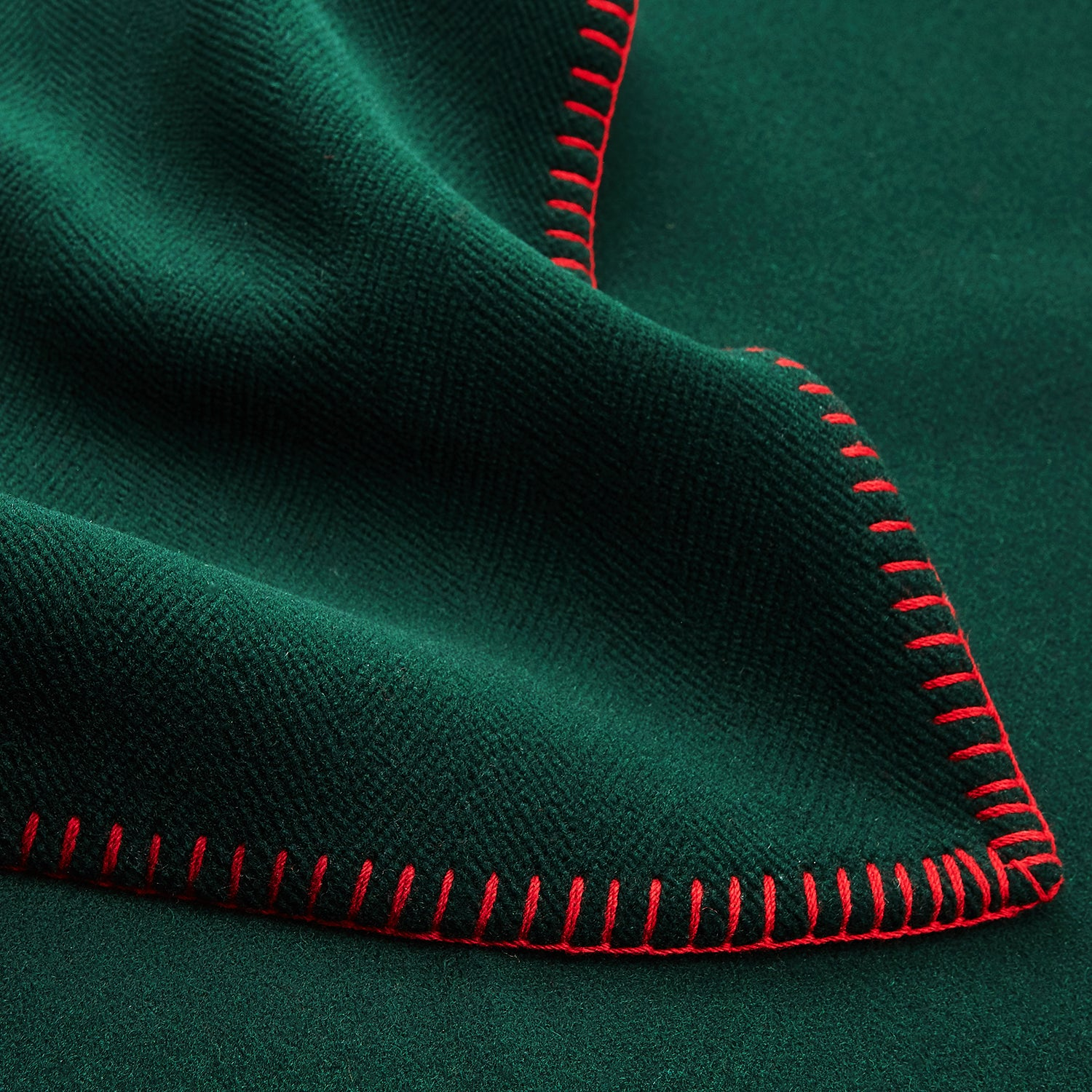 Dark Green Lambswool Blanket