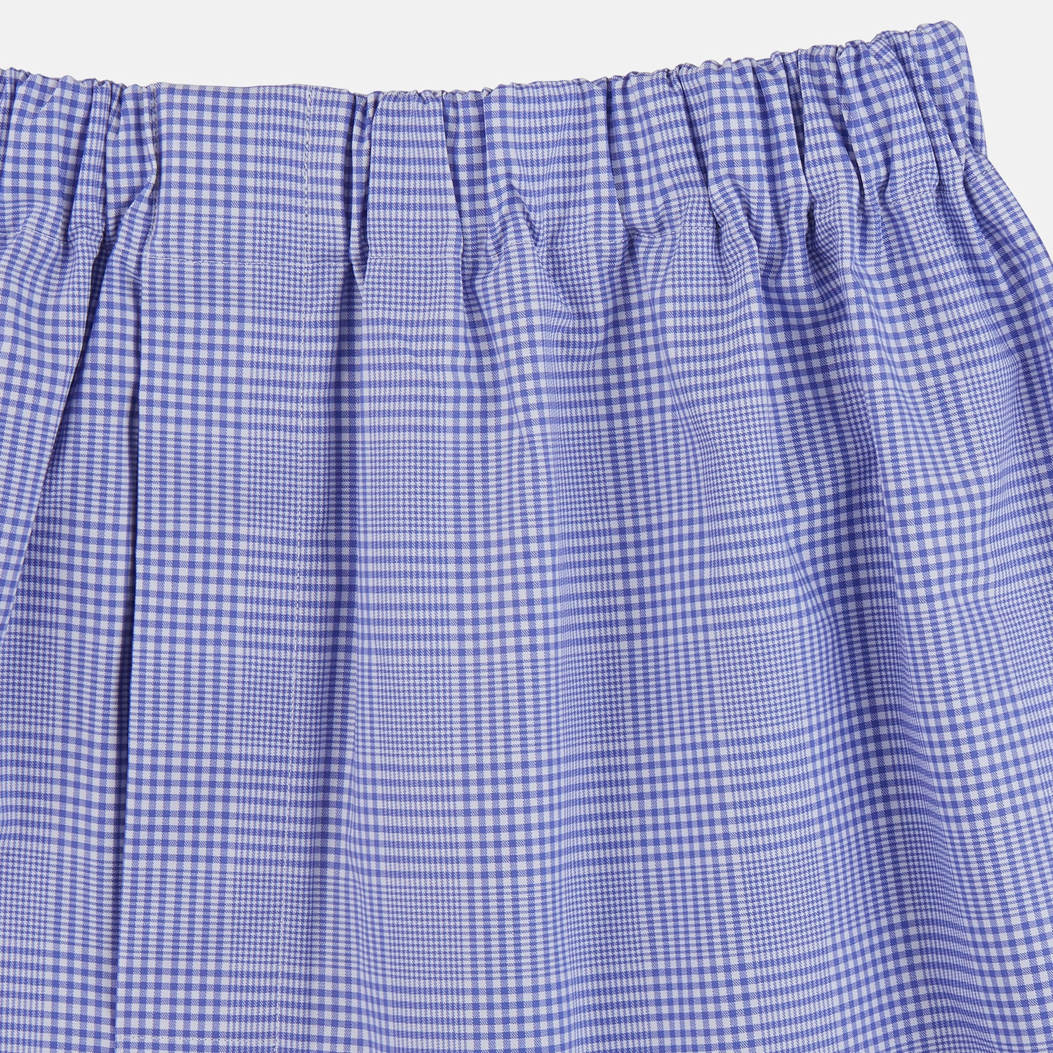 Blue Check Cotton Boxers