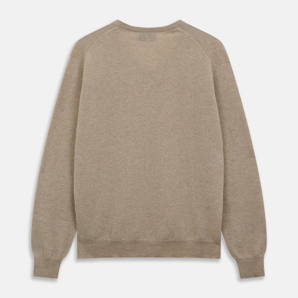 Beige Paden V-Neck Jumper
