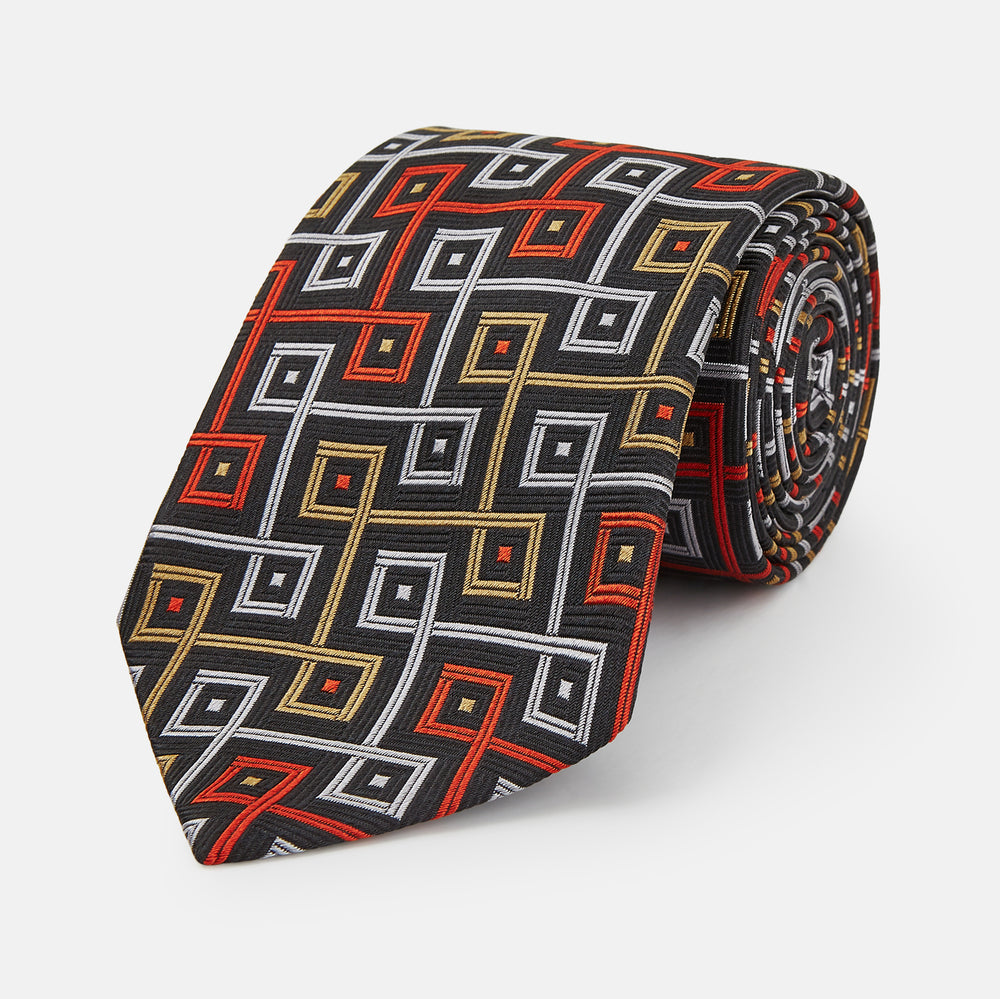 The World Is Not Enough Square Silk Tie As Seen on James Bond