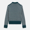 Holly Green Knitted Cashmere Crewneck Jumper