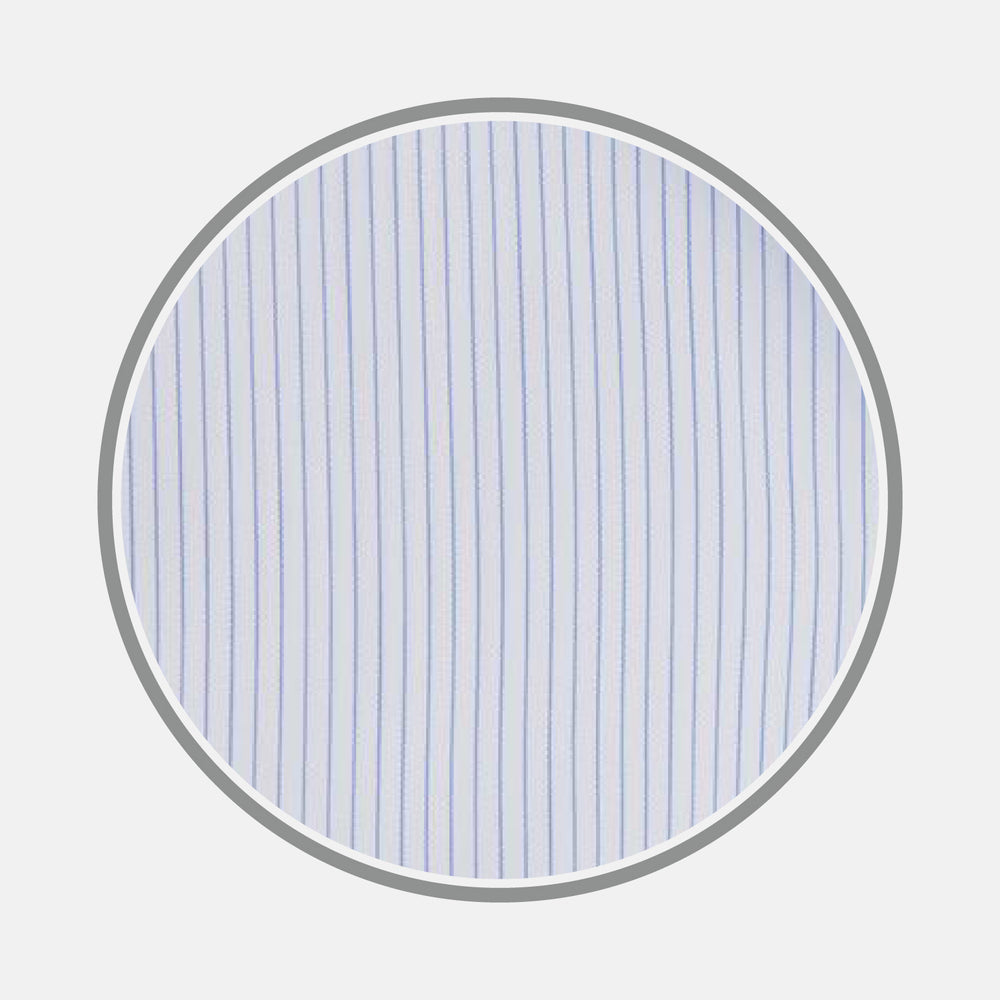 Sky Blue Fine Stripe Cotton Fabric