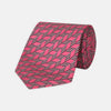 Pink and Red Arrow Printed Silk Tie