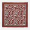Red Paisley Petal Print Silk Pocket Square