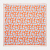 Orange Vine Print Silk Pocket Square