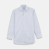 Navy Group Check Shirt with T&A Collar and 3-Button Cuffs