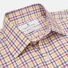 Blue, Yellow and Pink Check Shirt with T&A Collar and Three-Button Cuffs