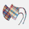 Blue & Orange Madras Check Linen Commuter Mask with 3 VIROFORMULA™ filters