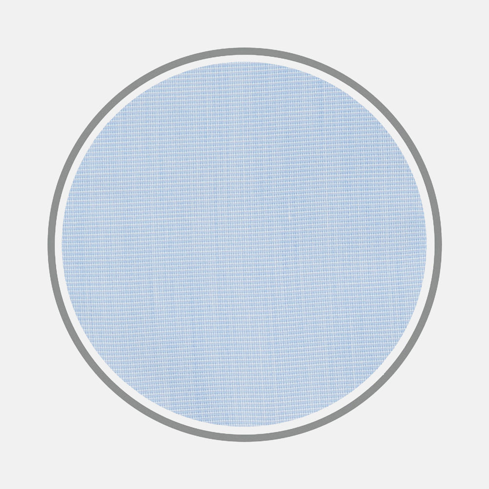 Light Blue End-on-End Cotton Fabric