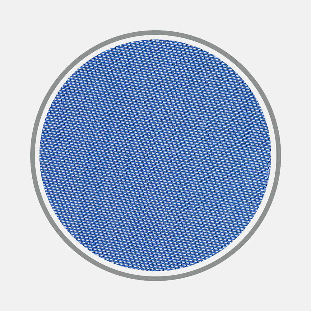 Dark Blue End-on-End Cotton Fabric