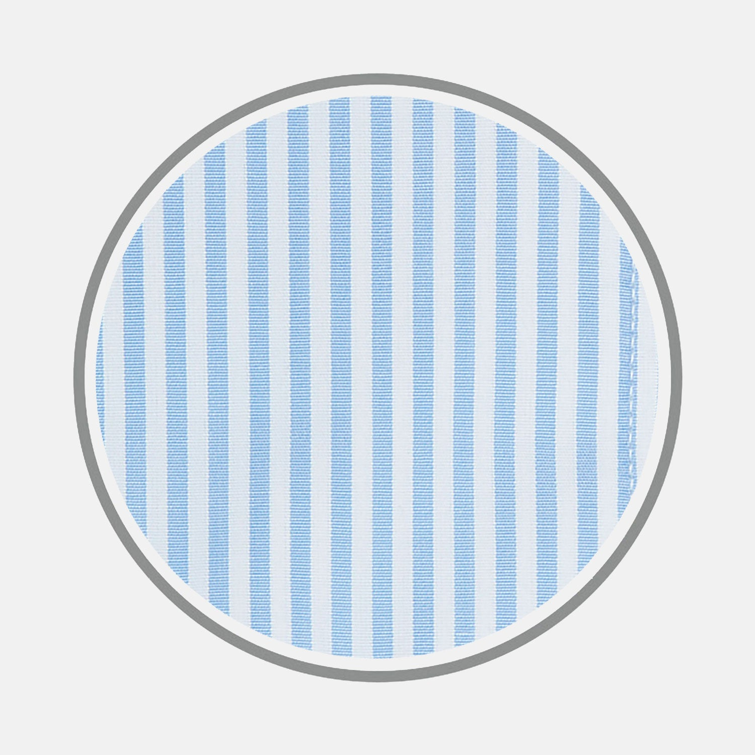 Light Blue Bengal Stripe Cotton Fabric
