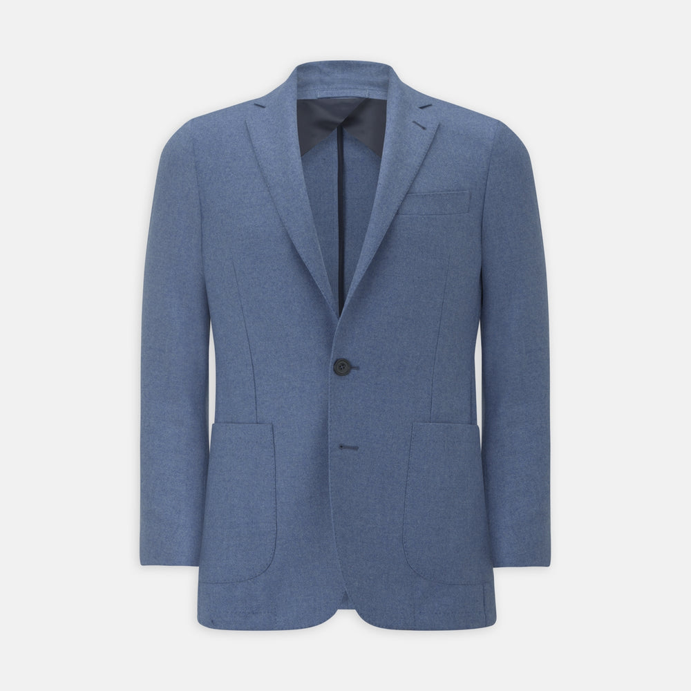 Sky Blue Wool and Cashmere Jacket