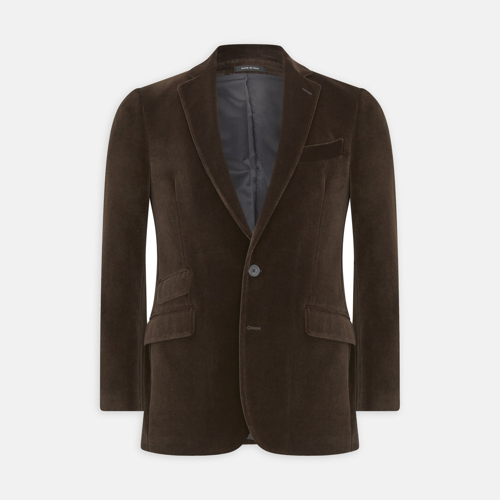 Brown Velvet Jacket