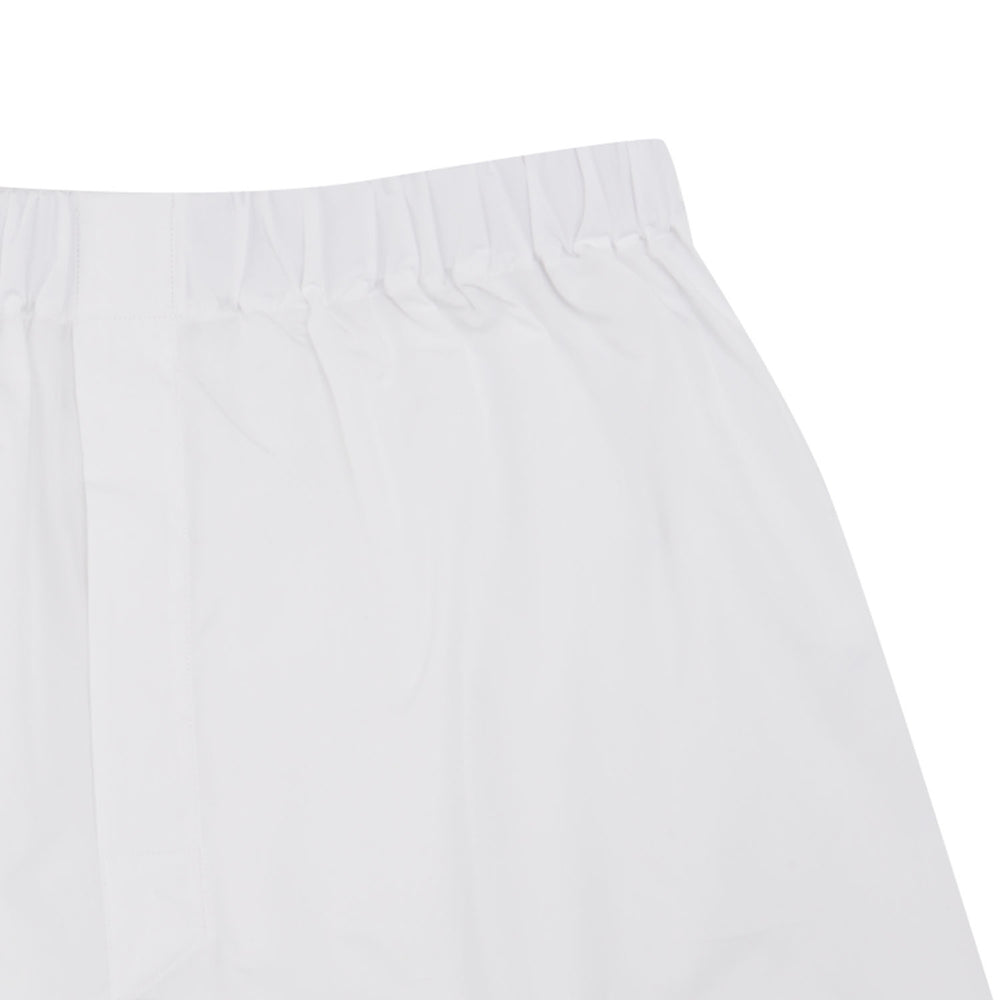Plain White Cotton Boxer Shorts