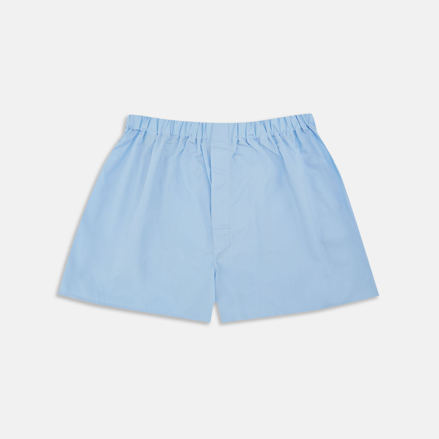 Plain Light Blue Cotton Boxer Shorts