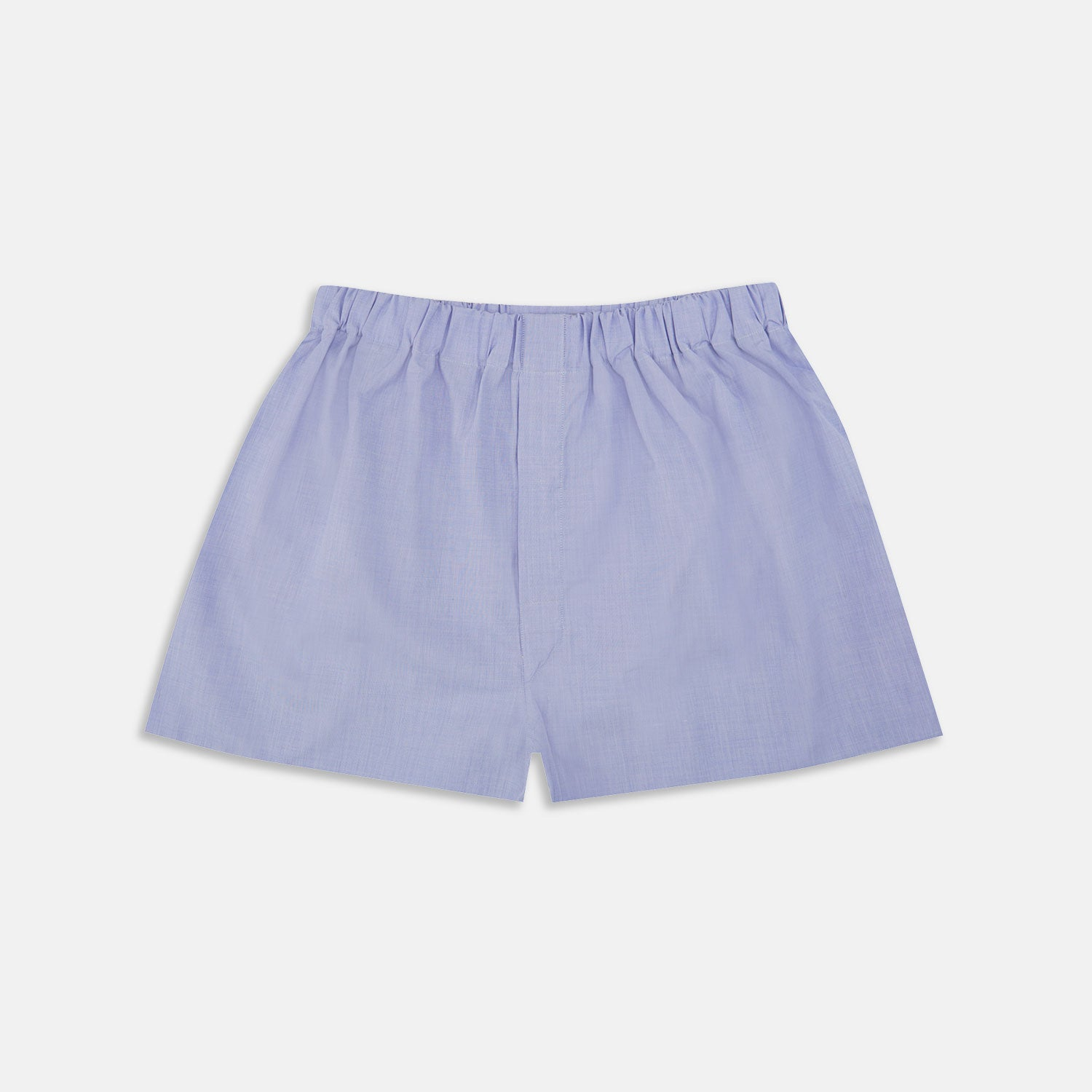 Blue End-On-End Cotton Boxer Shorts