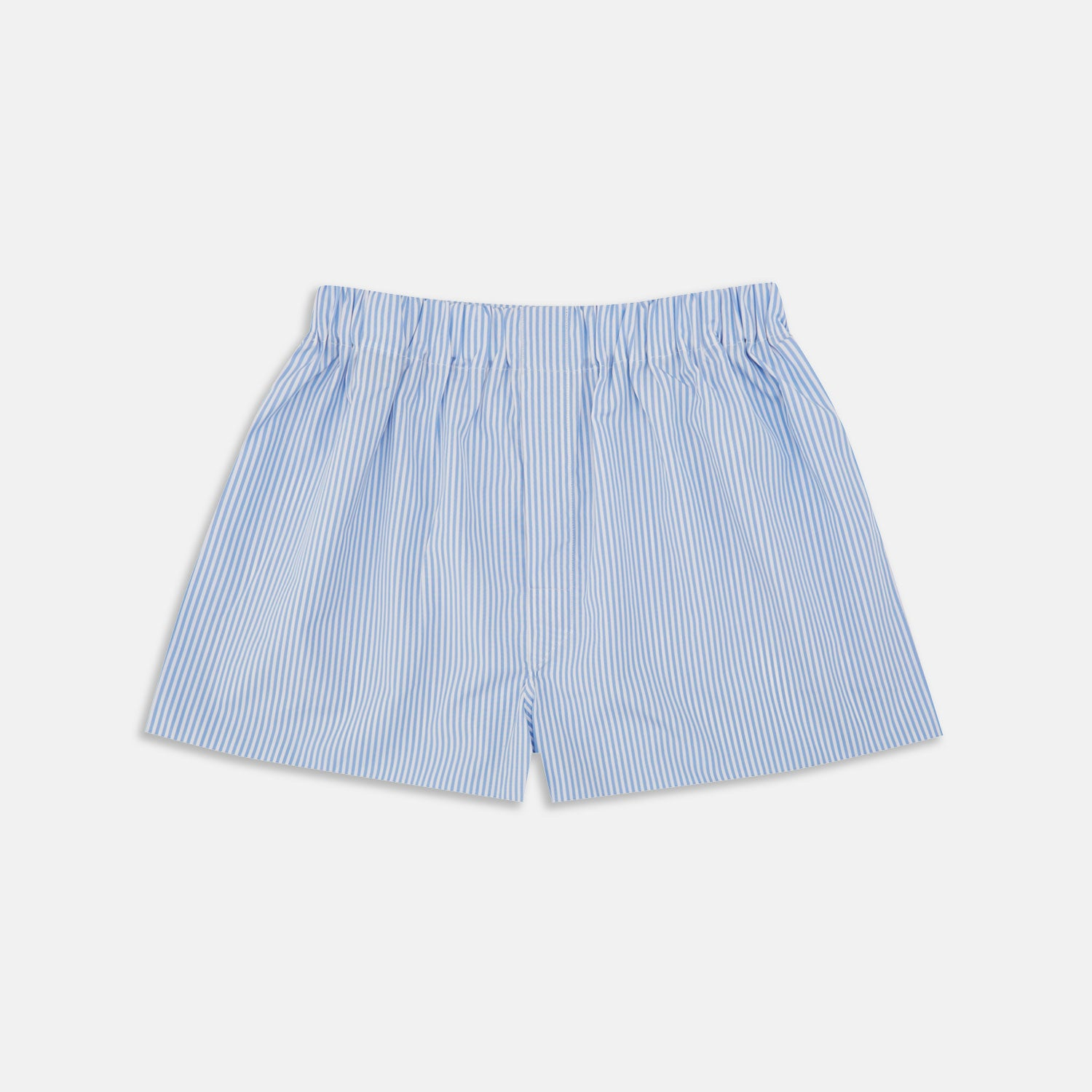 Light Blue Bengal Stripe Cotton Boxer Shorts