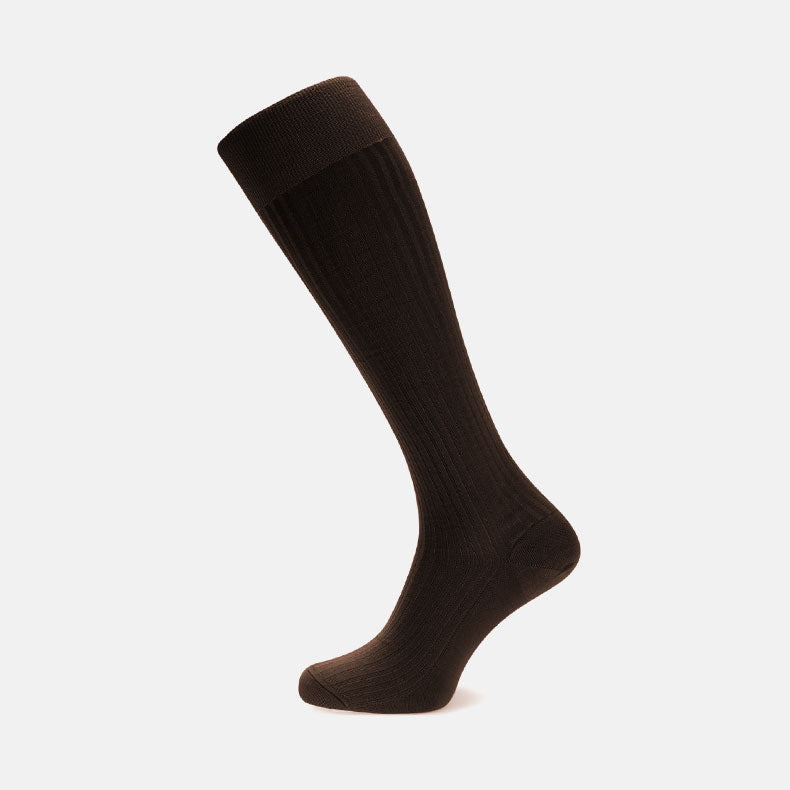 Brown Long Cotton Socks