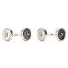 Reversible Sterling Silver Button Cufflinks