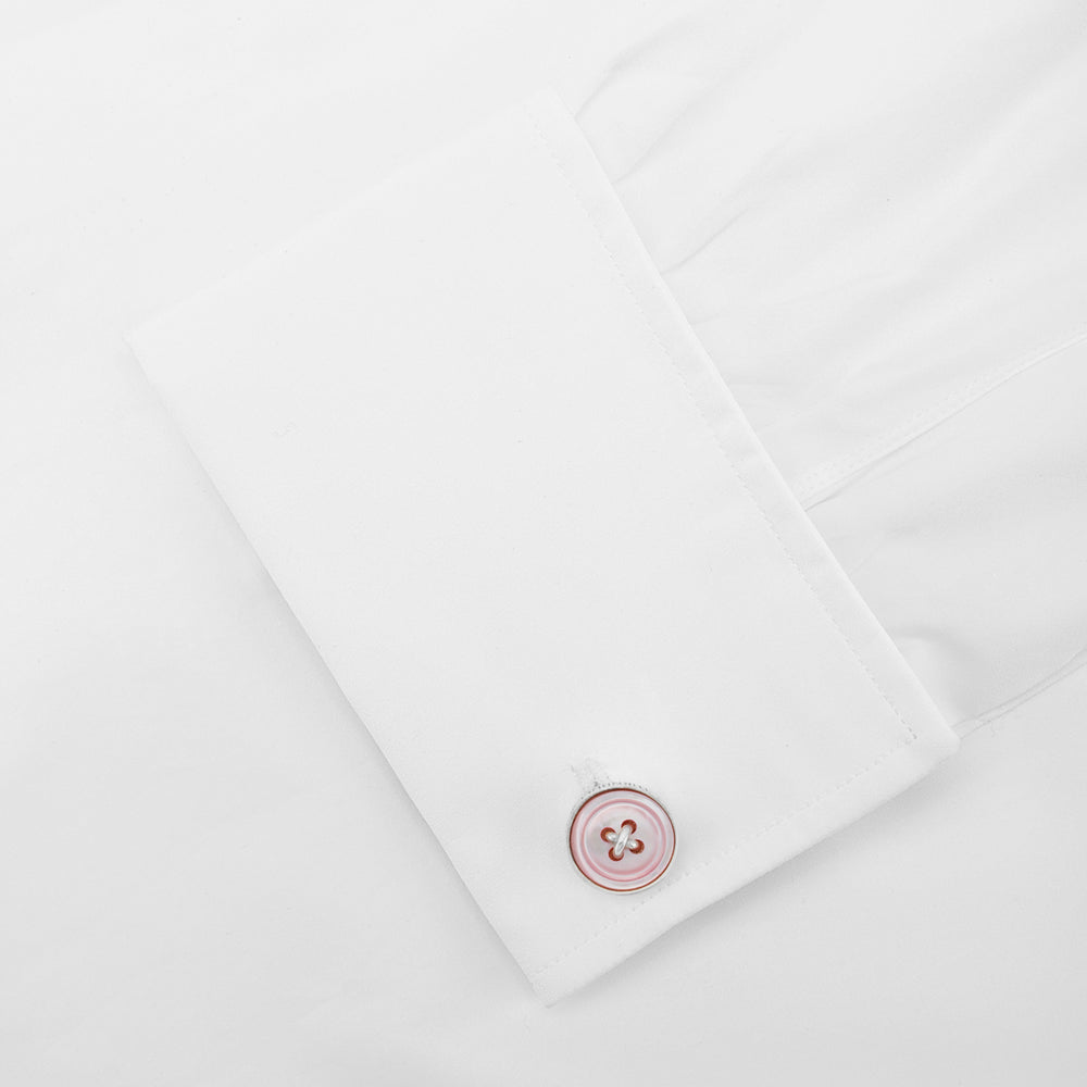 Pink Sterling Silver Button Cufflinks