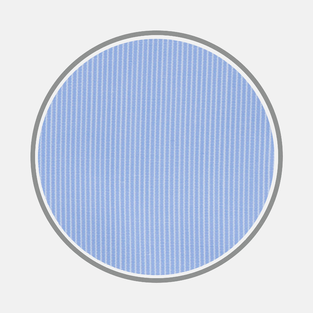 Light Blue Fine Stripe Cotton Fabric