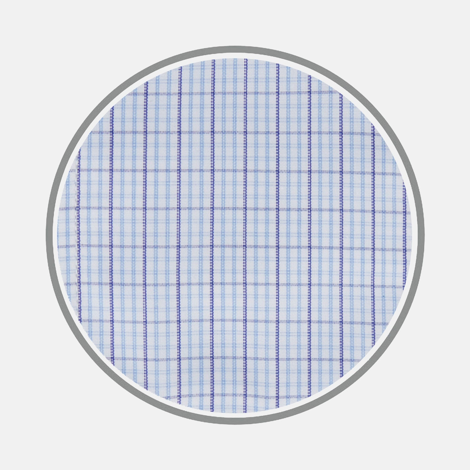Blue Supraluxe Check Cotton Fabric
