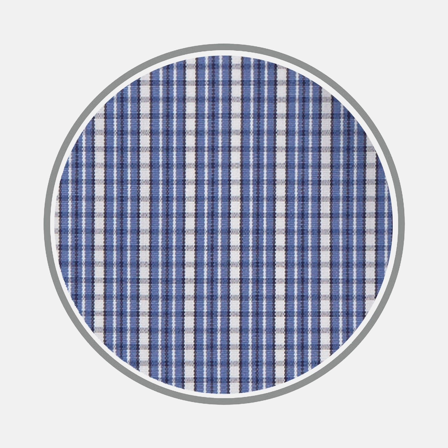 Navy Ladder Check Cotton Fabric
