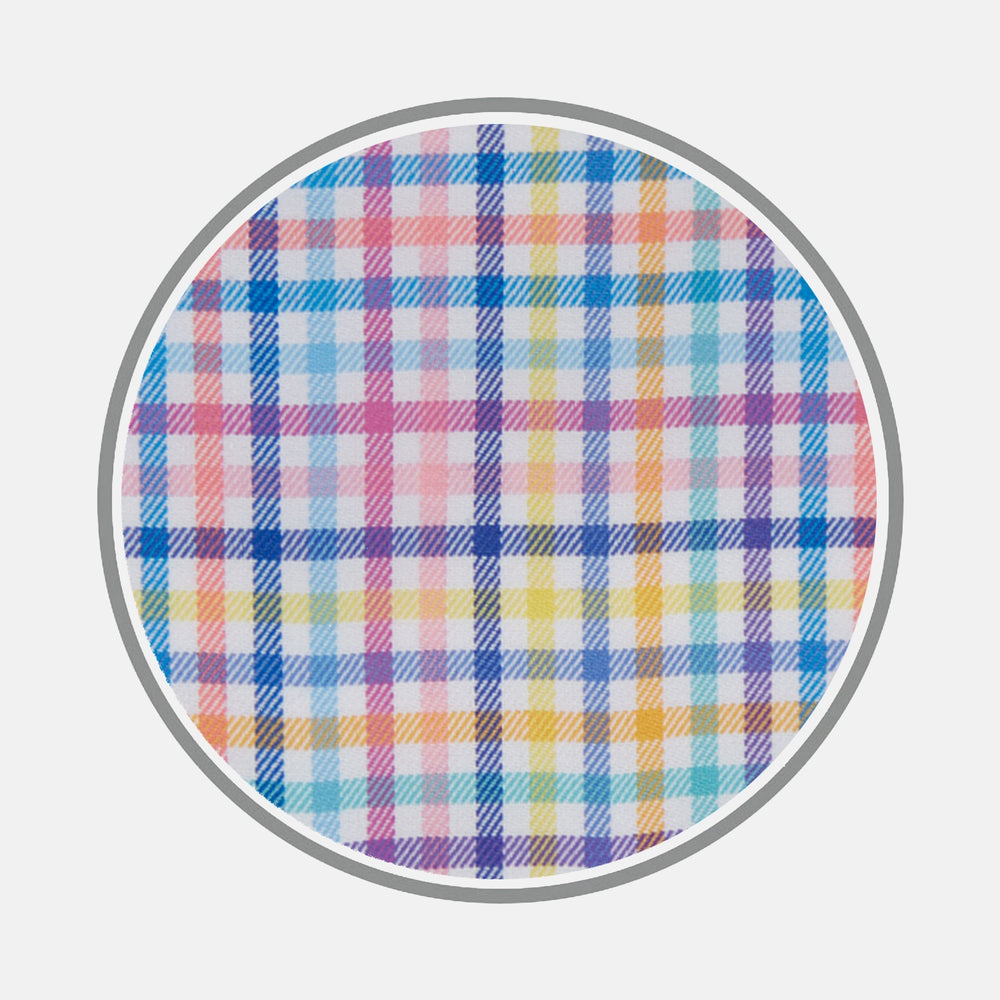 Multicoloured Graph Check Cotton Fabric
