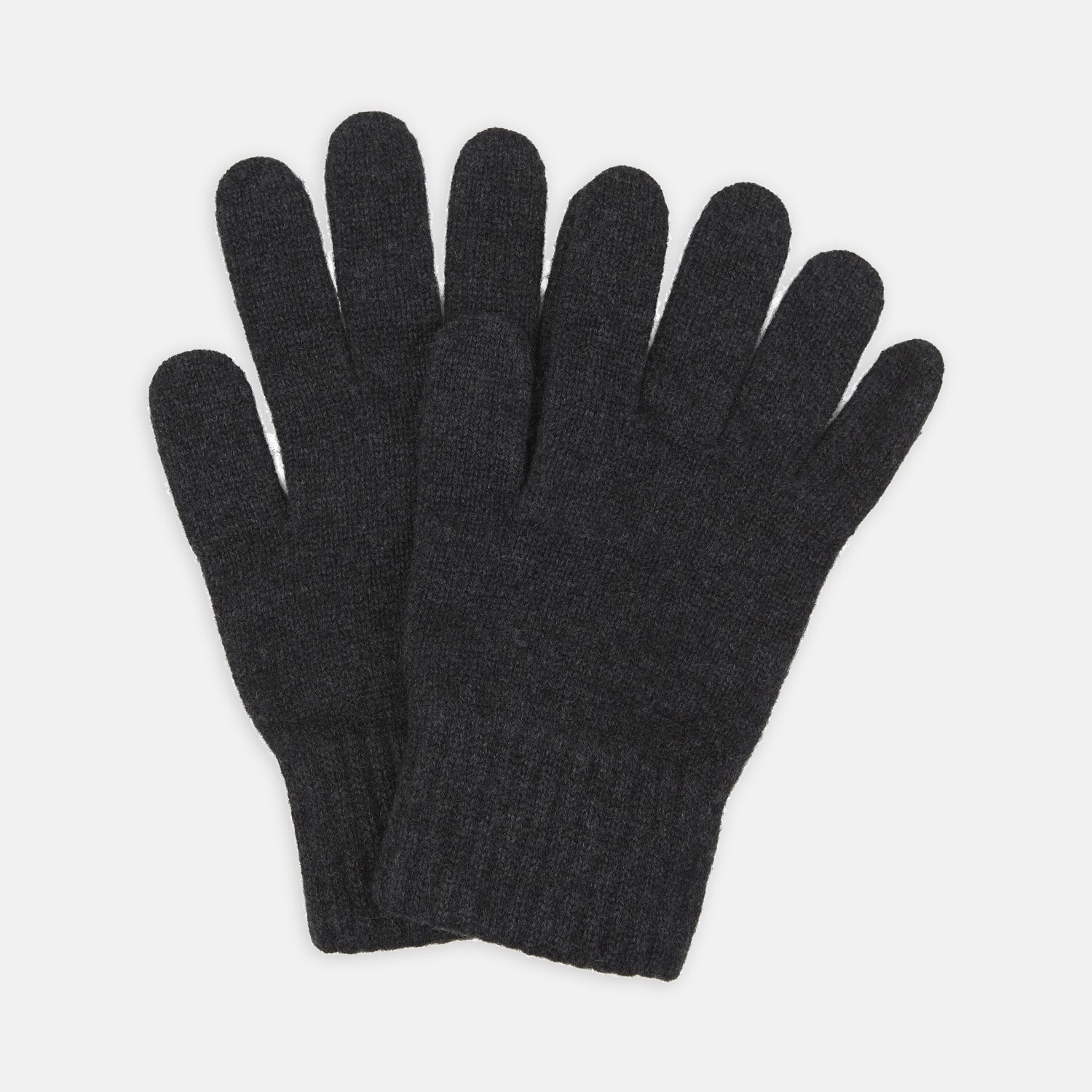 Charcoal Knitted Cashmere Gloves