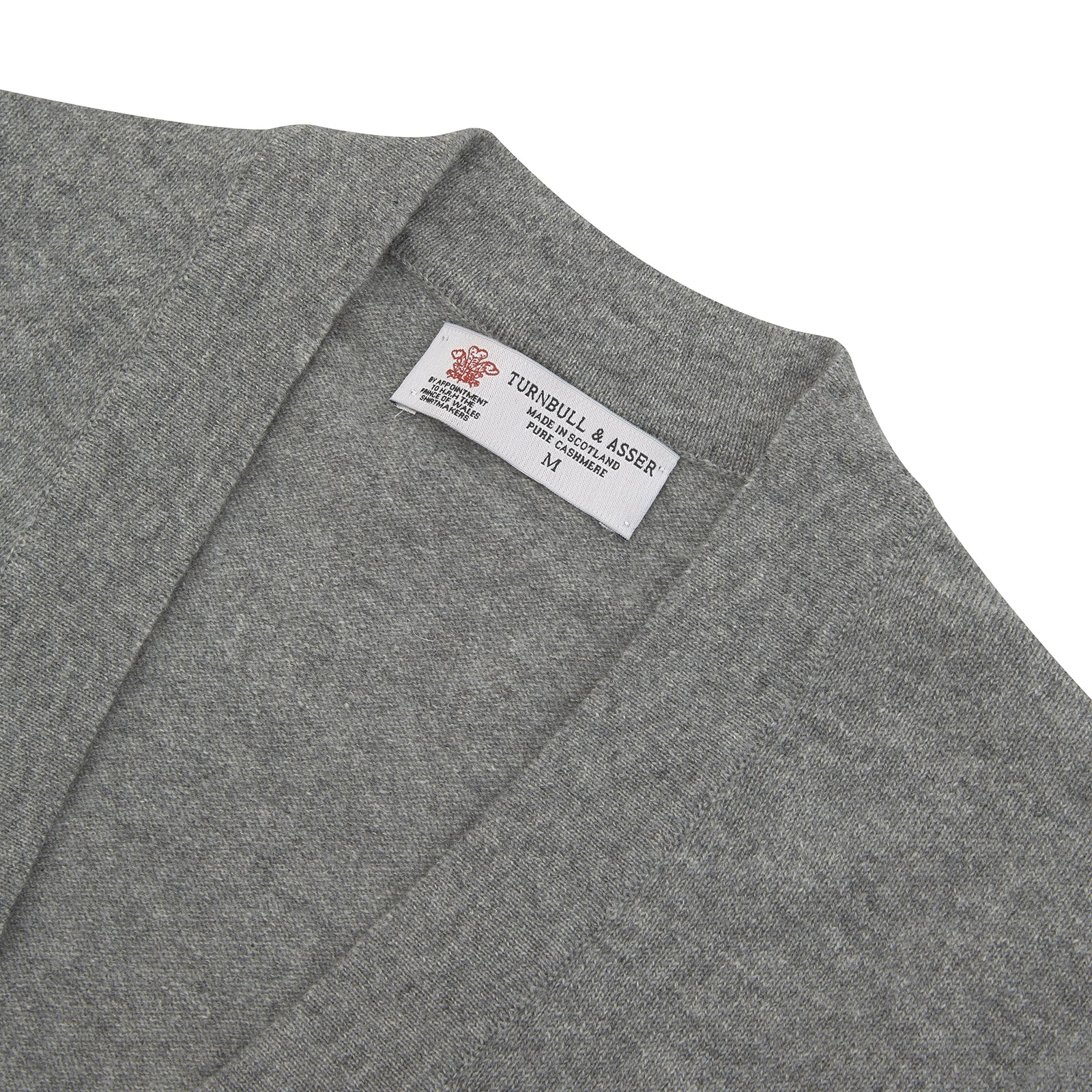 Louis Flannel Grey Cashmere Cardigan