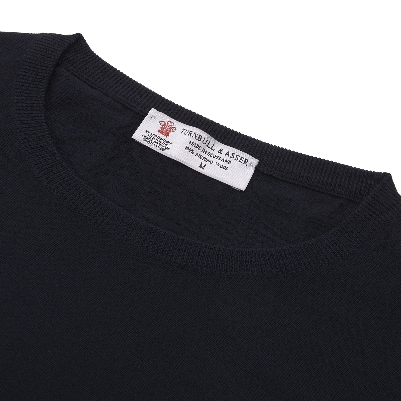 Indigo Crew Neck Merino Wool Jumper