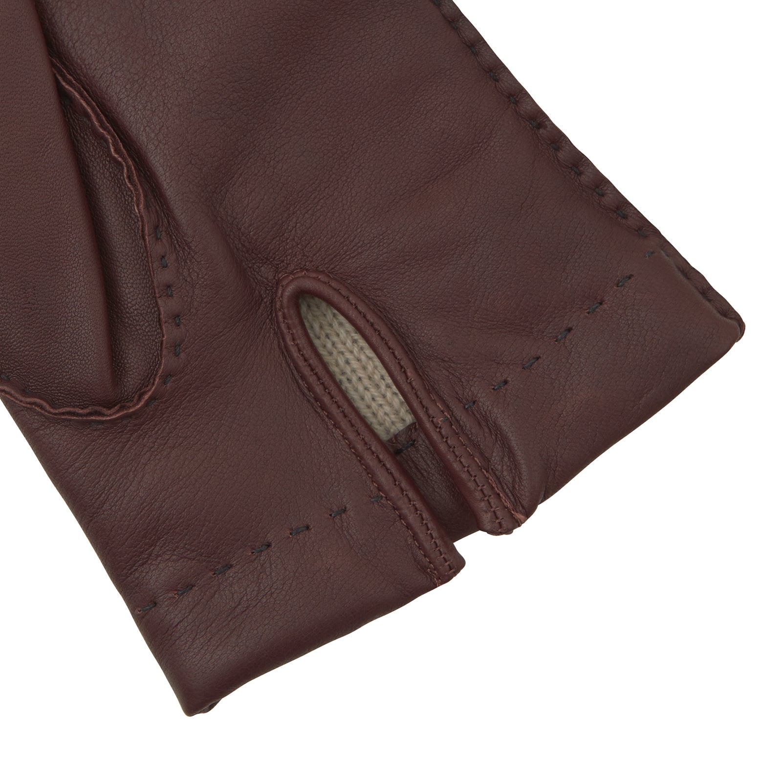 Brown Hairsheep Leather Gloves