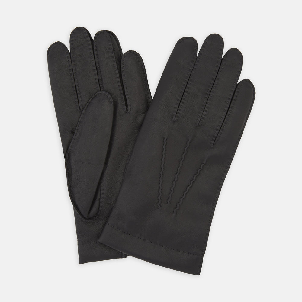 Walden Black Leather Gloves