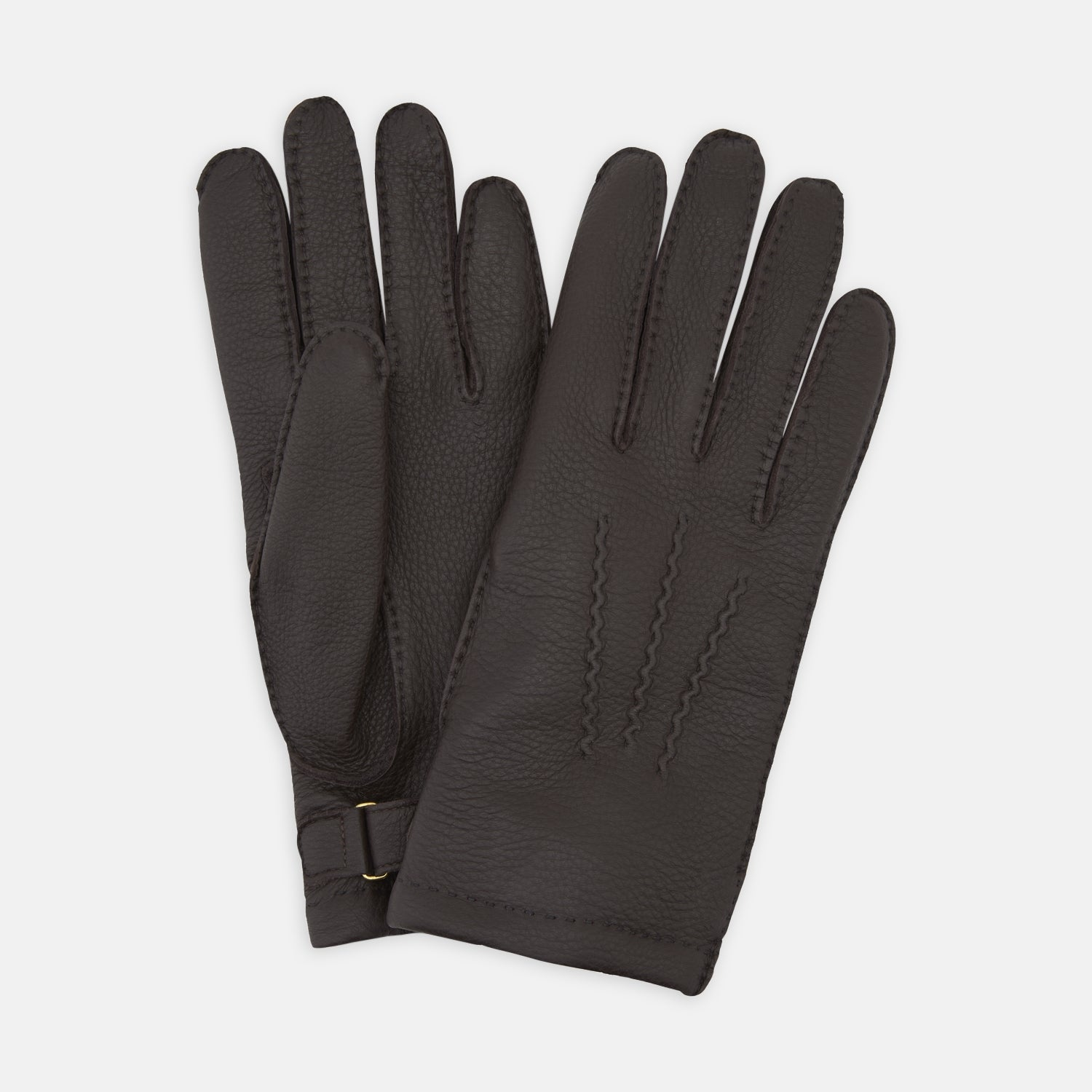 Dark Brown Kirkdale Leather Gloves