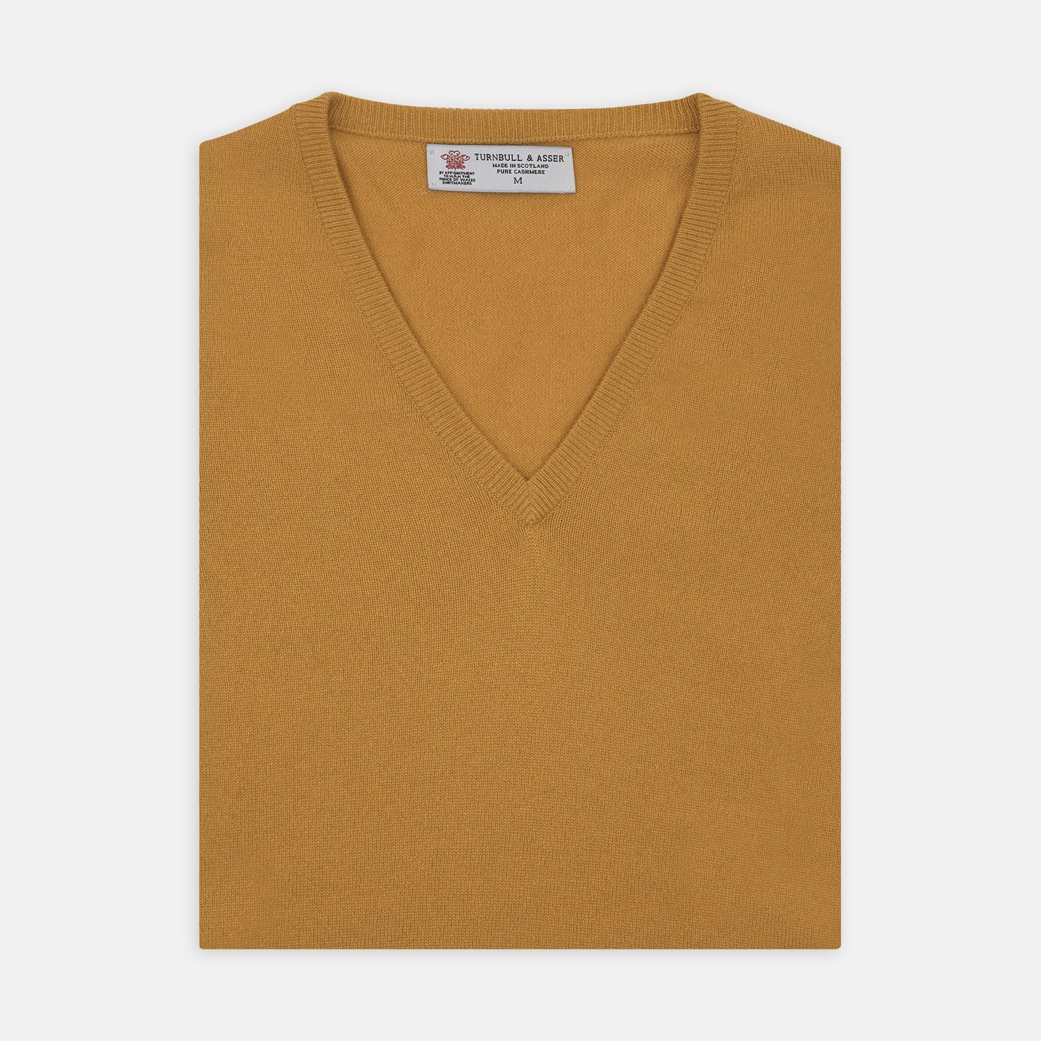 Sunflower Yellow V-Neck Cashmere Slipover